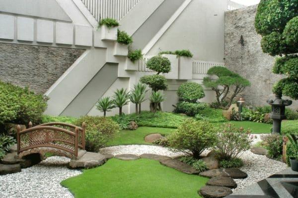 Exemple d'aménagement d'un jardin japonais